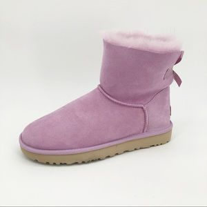 Ugg Mini Baily Bow II Boots Lavender Fog Short